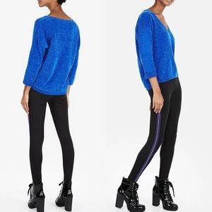 Express Blue Drapey Sweater